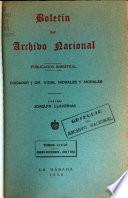 Boletín del Instituto de Historia y del Archivo Nacional