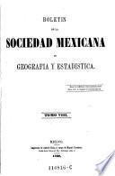 Boletin del instituto nacional de geografía y estadística de la república mexicana
