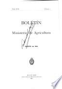Boletín del Ministerio de agricultura