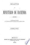 Boletin del Ministerio de hacienda