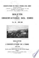 Boletín mensual del Observatorio del Ebro ...