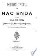 Boletin oficial de hacienda de la isla de Cuba
