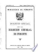 Boletín oficial de la Dirección General de Fomento