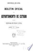 Boletin oficial de la Secretaria de estado