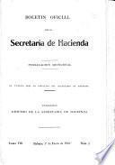Boletin oficial de la Secretaría de Hacienda