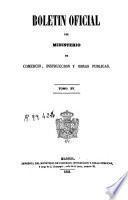 Boletín oficial del Ministerio de Comercio, Instrucción y Obras Públicas