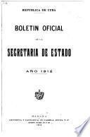 Boletín oficial del Ministerio de Estado de la República de Cuba