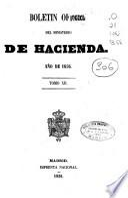 Boletín oficial del Ministerio de Hacienda