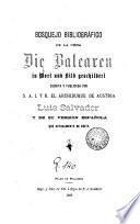 Bosquejo bibliográfico de la obra Die Balearen in Wort und Bild Geschildert