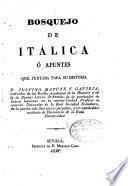 Bosquejo de Itálica