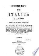 Bosquejo de Italica o Apuntes que juntaba para su historia