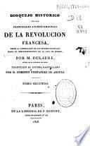 Bosquejo de los principales acontecimientos de la Revolución Francesa