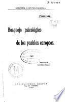 Bosquejo psicológico de los pueblos europeos