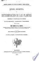 Botánica descriptiva y determinación de las plantas indígenas y cultivadas en España de uso medicinal, alimenticio é industrial