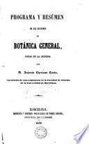 Botánica General...