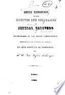 Breve exposicion de los motivos que obligaron al Jeneral Caravedo a incorporarse en las tropas libertadoras