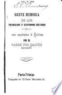 Breve memoria de los trabajos y estudios hechos en una espedicion á Cubitas...