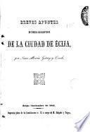 Breves apuntes histórico-descriptivos de la ciudad de Écija