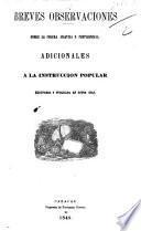 Breves observaciones sobre la Colera Asiatica o pestilencial, ... reimpresa y publicada, etc. [By T. Vargas.]