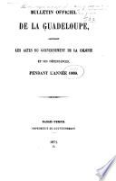 Bulletin officiel de la Guadeloupe