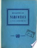Bulletin on Narcotics