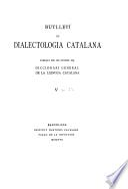 Butlletí de dialectologia catalana