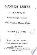 Cajón de Sastre, literato, etc., 5