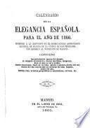 Calendario de la elegancia española para el año de 1866