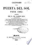 Calendario de la Puerta del Sol para 1862