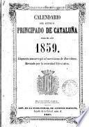 Calendario del antiguo principado de Cataluña para el año 1859