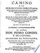 Camino de la perfección cristiana