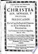 Camino real del desengaño en seis discursos christianos, morales y políticos