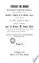 Canales de riego de Cataluña y reino de Valencia