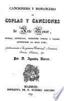 Cancionero y romancero de coplas y canciones de arte menor