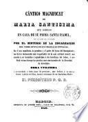 Cántico de María Santísima, Magnificat...