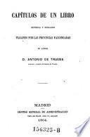 Capitulos de un libro, sentidos y pensados viajando por las provincias vascongadas