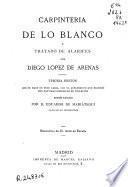 Carpintería de lo blanco y Tratado de alarifes