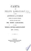 Carta de Felipe Larrazábal al señor Antonio L. Guzmán, ministro de relaciones esteriores