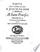 Carta del siervo de Dios--- al Sumo Pontifice Inocencio X.
