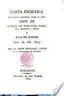 Carta Enciclica de nuestro Smo Padre el Papa Leon XII. y Bula de Jubileo para el año 1825