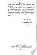 Carta ilustrativa sobre la época del reynado de D. Pelayo y batalla de Covadonga : primera que dirige al señor Don Francisco Masdeu