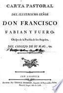 Carta Pastoral del Ilmo.Sr.D. ---, obispo de la Puebla de los Angeles