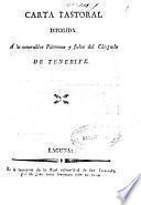 Carta pastoral dirigida a los venerables Párrocos y fieles del Obispado de Tenerife
