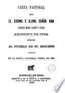 Carta pastoral que ... Antonio María Claret y Clará ... dirige al pueblo de su diócesis despues de la santa pastoral visita de 1853