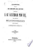Carta que el ex-obispo de Autun dirigió a su Santidad Pio VII