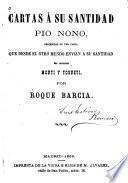Cartas á su santidad Pio Nono