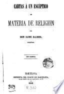 Cartas á un escéptico en materia de religión