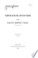 Cartas al dr. dn. Cecilio Baez sobre Marcelino Menéndez y Pelayo