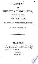 Cartas de Heloysa y Abelardo, en prosa y en verso; con la vida de estos desafortunados amantes. Nueva impression
