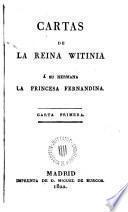 Cartas de la Reina Witinia a su hermana la Princesa Ferdinanda